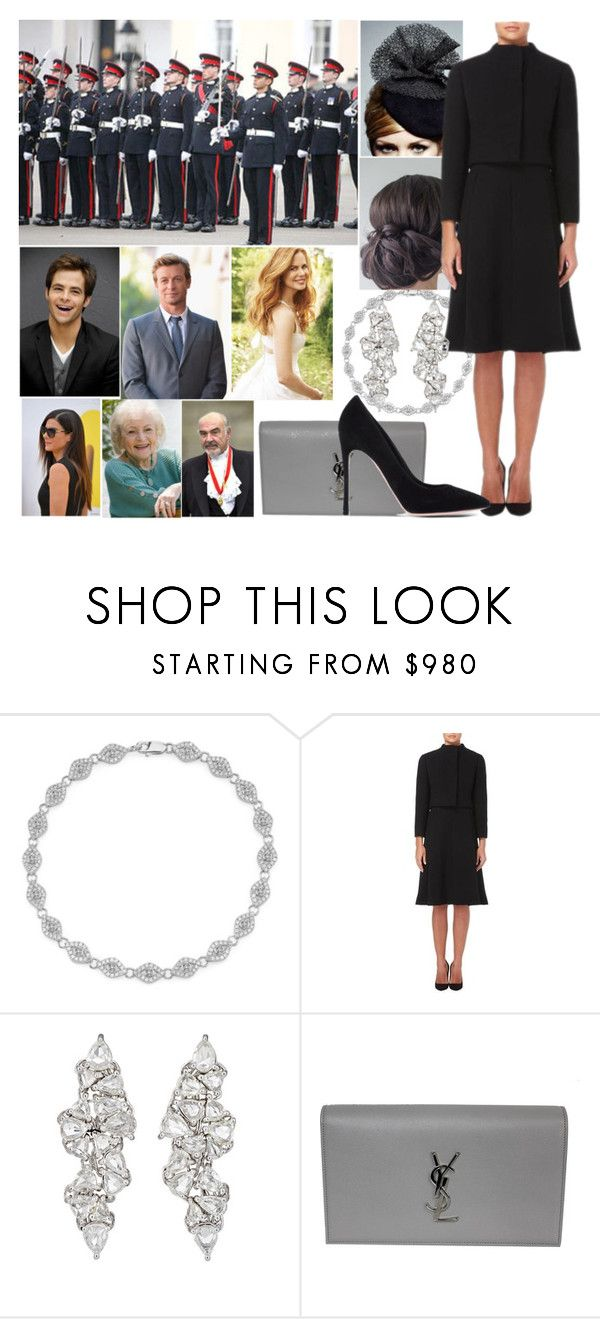 """""""Attending her cousin Archibald's Imperial Navy graduation with her family"""" by eiraofaustria ❤ liked on Polyvore featuring Nicole, Sydney Evan, Rachel Trevor-Morgan, Pauline Trigère, Monique Péan, Yves Saint Laurent, Gianvito Rossi and Retrò"""