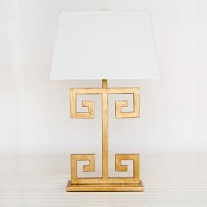 Greek key lamp - fun!! Product in photo is from www.wellappointedhouse.com