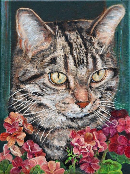 Custom Pet Portraits of Cats  Cat Portrait  by PetPortraitsbyNC