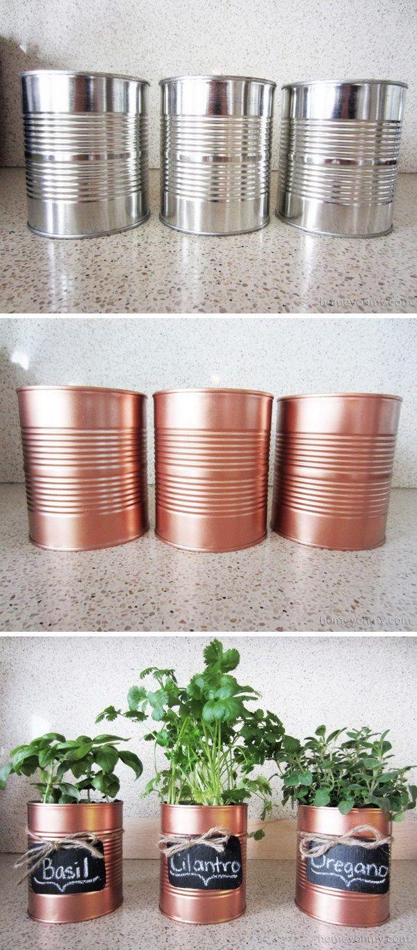Pour nos fines herbes... peux être avec des pots de peinture