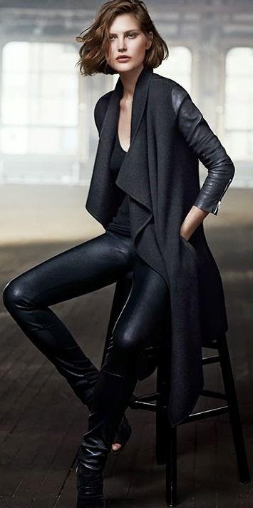 Donna Karan 2014 sexy black street style for fall
