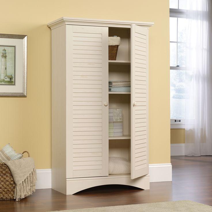 Sauder Antique White Storage Cabinet