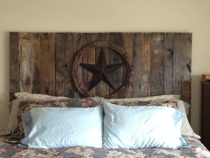 Attach to bed frame or wall and ..... Walah! Awesome do it yourself western headboard for around $40-50.