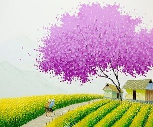Buy Vietnamese 100% Handmade Oil Paintings On Canvas For Your Home/Offices ✓Free Delivery ✓Free Photoshop Service ✓Free Onsite Consultation