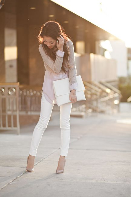 white jeans - feminine