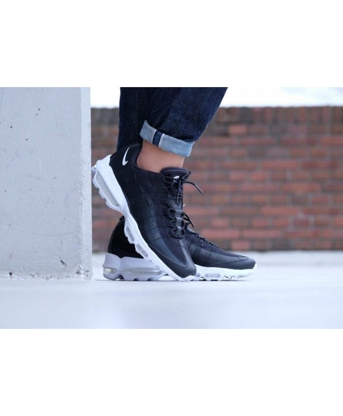Nike Air Max 95 Ultra Essential Black White Shoes UK Sale
