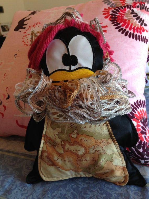 Fashion Pinguina con Capelli, Sciarpa, Pancia e Cintura by CuddlyMade, prezzo da €29.00