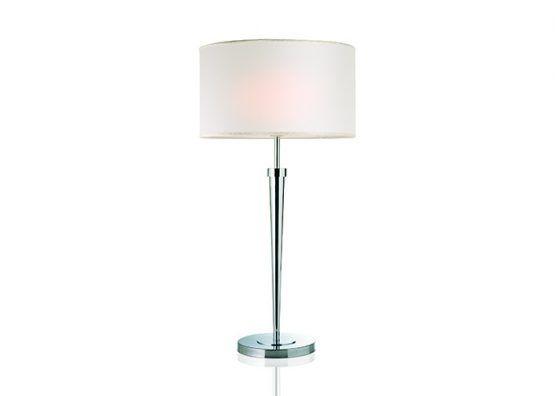 Lampada da tavolo in ottone cromato e paralume in tessuto   Table lamp,  chromed brass with fabric lamp shade.    art.1100.02    #Luxury #Lamp #interiorDesign #Design #Light #Madeinitaly