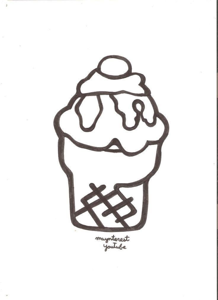 plantilla helado para hacer funda de m u00f3vil  celular