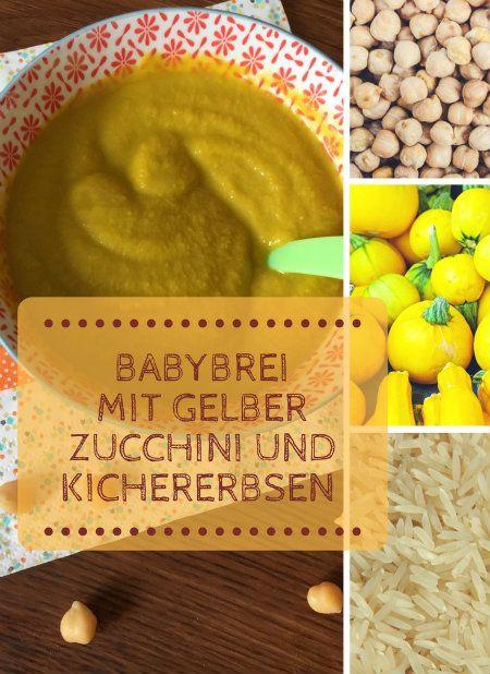Babybrei mit Kichererbsen gelber Zucchini und Reis – Beikost, Babybrei & BLW – breirezept.de
