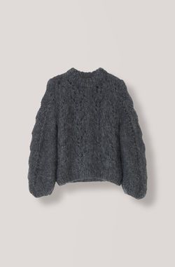 1ef38baf The Julliard Mohair Pullover, Ebony Melange, hi-res | Knit | Hand ...