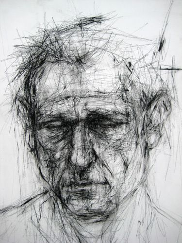 Ginny Grayson - Have students create portraits using quick, gesture like movement with straight lines only