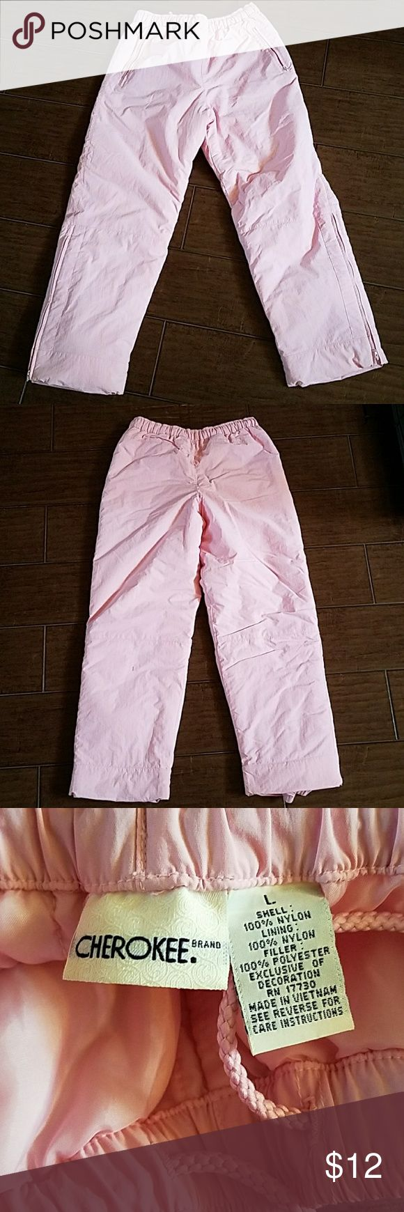 Girls snow pants Cherokee brand snow pants for girls. Worn once!! Pockets, lined, comfy. Cherokee Bottoms Sweatpants & Joggers