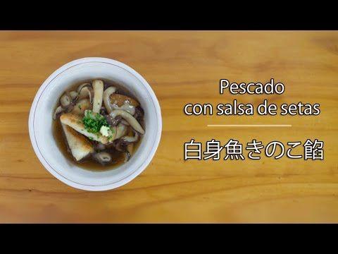 Recetas japonesas: Como preparar pescado blanco en salsa de setas | Taka...