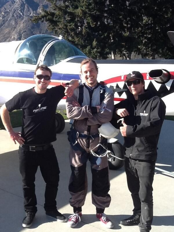 Men in Black... Meet some of our ground crew staff here at NZone skydive. Harry is all amped up for his jump!