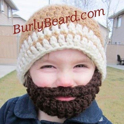 Child Knit Hat With Beard Pattern Crochet Pattern Hat Online