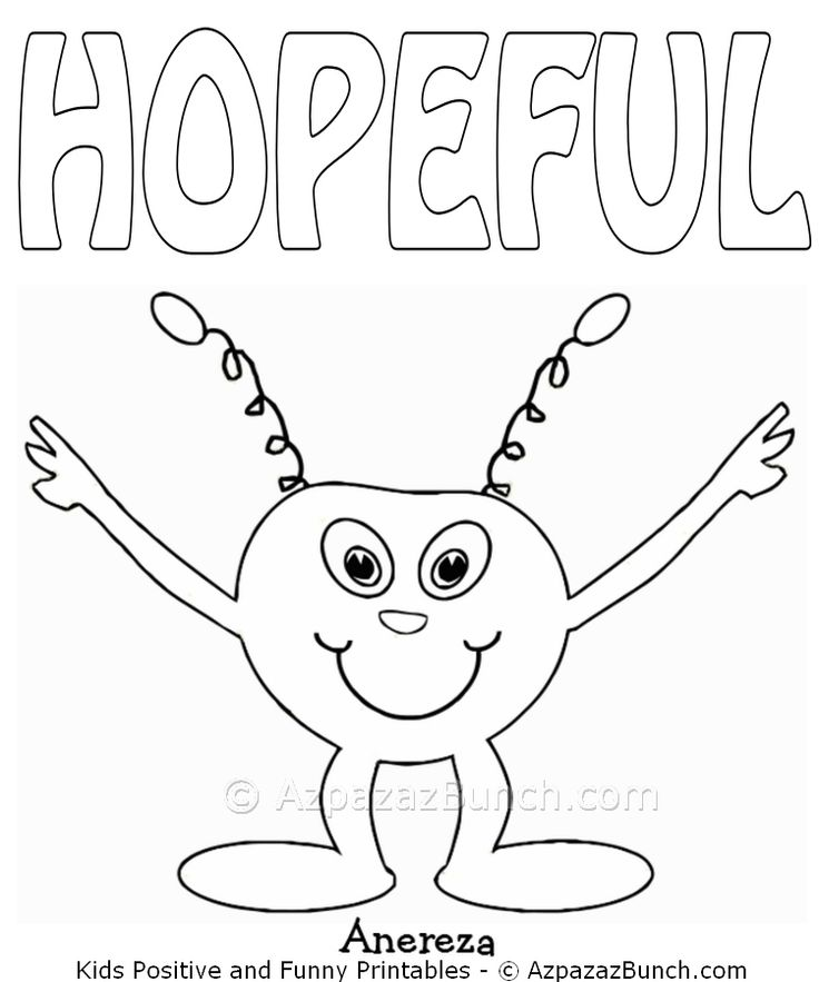 Anereza Hopeful Printable Coloring Page