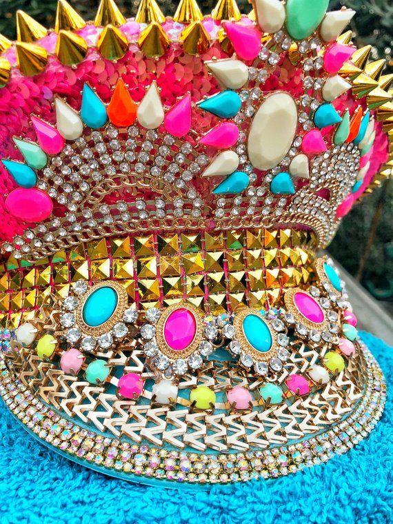 e9caf0dcd Burning Man Hat- Pink, Captain hat, festival hat, marching band ...
