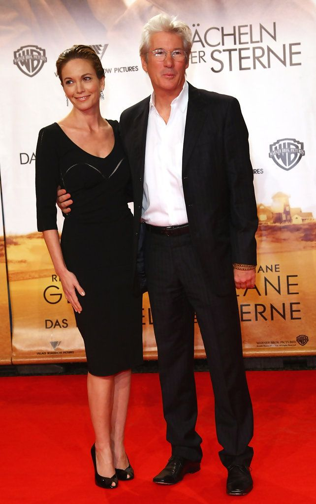 "Actor Richard Gere and actress Diane Lane attend the ""Nights in Rodanthe"" German premiere on September 30, 2008 in Berlin, Germany."