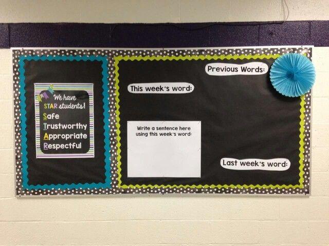 Vocabulary bulletin board