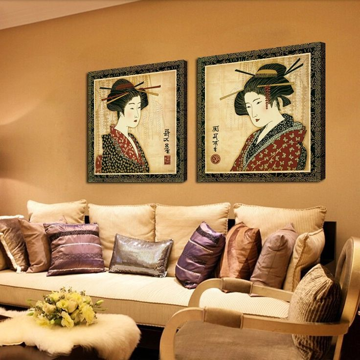Portrait japan style decor