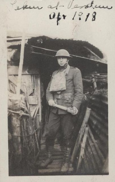 "Clifton B. Cates, Verdun, April 1918 by Marine Corps Archives & Special Collections, via Flickr. Photograph of future Commandant of the Marine Corps Clifton B. Cates in World War I. The inscription on the photograph reads: ""Taken at Verdun Apr 1918"".    From the collection of Clifton B. Cates/COLL3157, United States Marine Corps Archives & Special Collections"