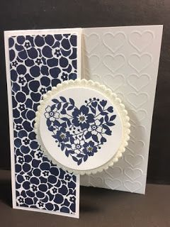 My Creative Corner!: Bloomin' Love, Dutch Door Technique Card, Stampin' Up!, Rubber Stamping, Handmade Cards