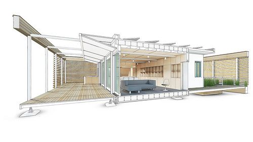 Stevens Solar Decathlon 2015 House Rendering: Interior 1