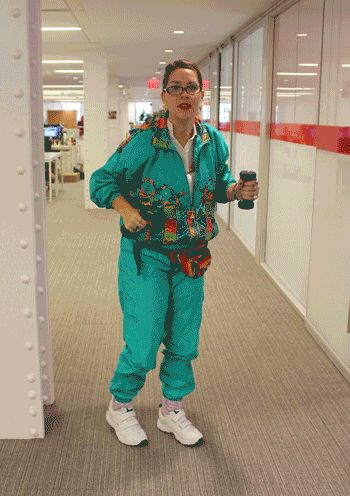 Aerobic Instructor | 34 BuzzFeed Employees Who Dressed Up For Halloween