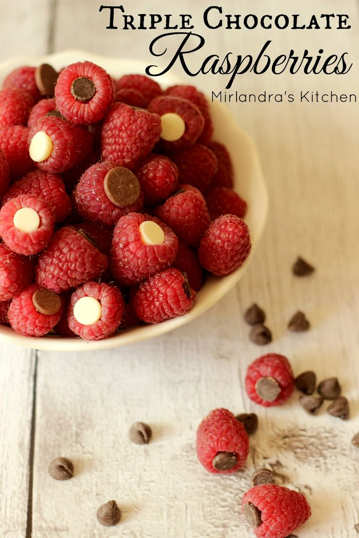 These delicious Triple Chocolate Raspberries are the perfect healthy treat and people who are gluten free,  or have food sensitivities, or food restrictions.  They make great appetizers, kid food, snacks, dessert, and garnish for special foods.