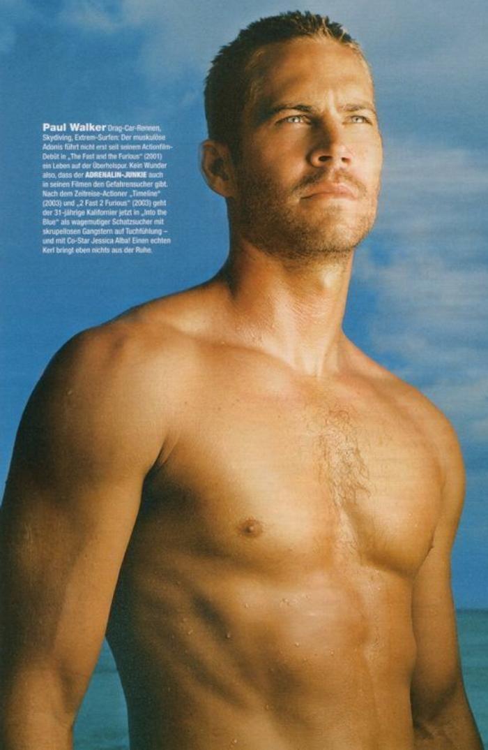 Paul Walker: wonderful actor gone too soon :-(