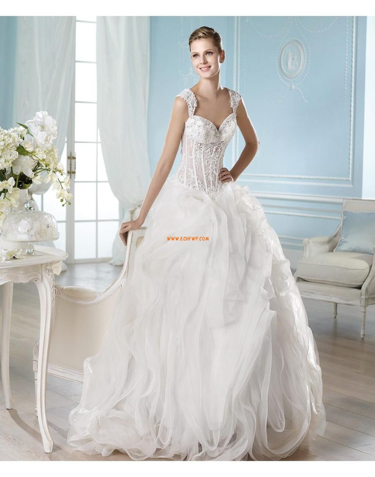 Cintilante & Brilhante Tule Chique & Moderno Vestidos de Noiva Designer