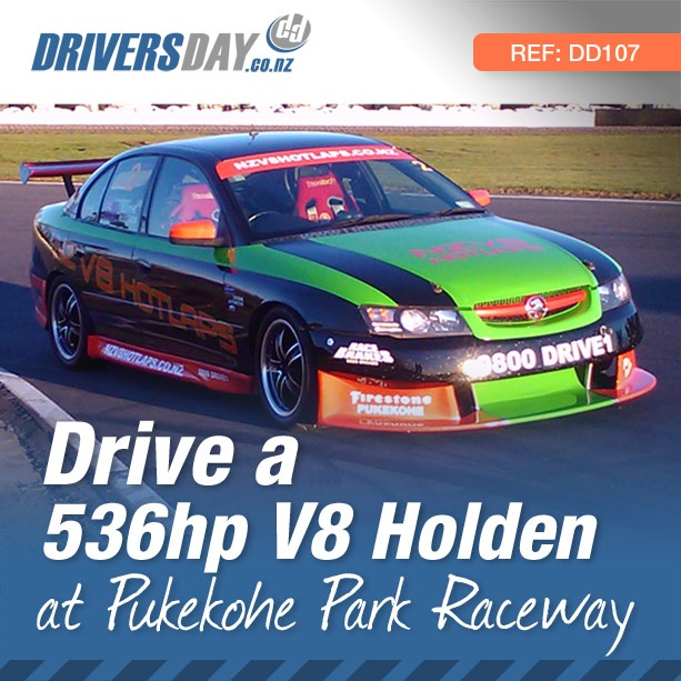 From $499, driving a 536hp V8 Holden Race Car at Pukekohe Auckland is a great gift for men or women. This race modified V8 Holden is the most powerful of all V8 driving experiences offered. The stunning braking and cornering abilities will give you a real insight into what it's like to race a thumping V8 around the iconic Pukekohe circuit.