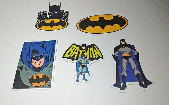 Lot Of 5 Batman Stickers  Crafts Scrapbooking by FrancisRoyal