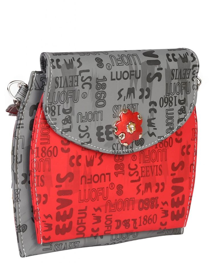 PurpleYou gray color retro style sling bag made of polyurethane material.