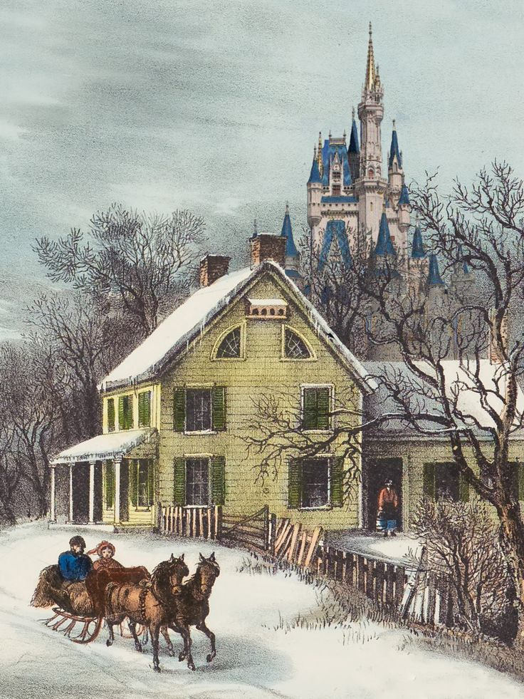 Lovely And Very Popular Wintry Painting. A Favourite On Table Mats And Porcelain Plates~ Currier And Ives