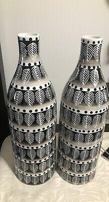 Schwarze und weiße Safari 18 große Keramikvase Set von 2 # Mode #Haus #Garten …