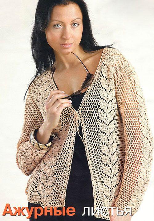 Летнее филейное вязание: жакет