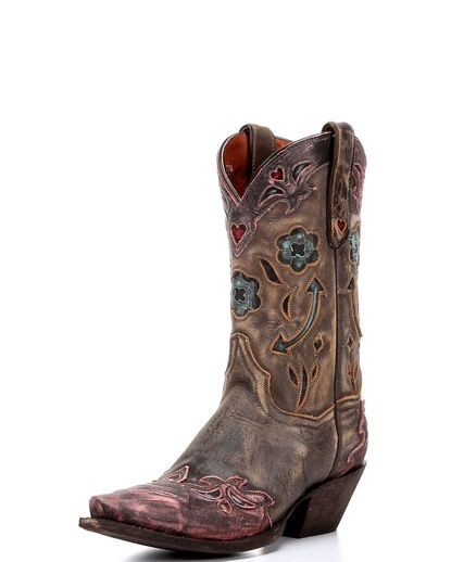 Women's Blue Arrow Boot - Brown/Pink Size 8