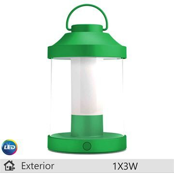 Lampa LED portabila Philips Abelia verde 1x3W http://www.etbm.ro/iluminat-decorativ-exterior