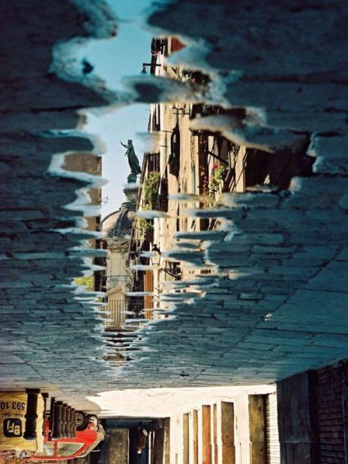 Buildings reflected in water, #reflection, #architecture