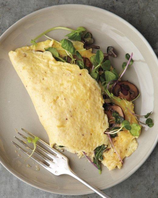 Mushroom-and-Microgreen Omelet Recipe