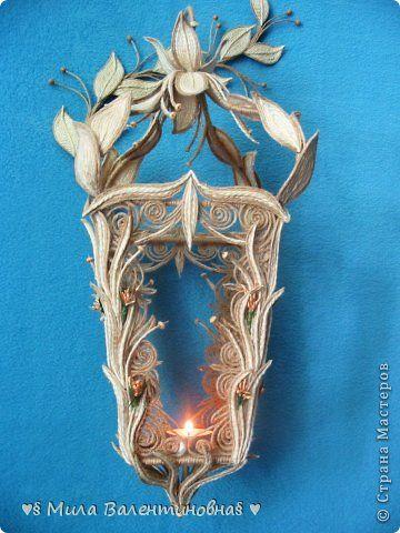 Diseño principal artesanía de clase modelado de productos MK-linterna de hilo de yute ♥ ♥ PUEDE Temas 1 foto