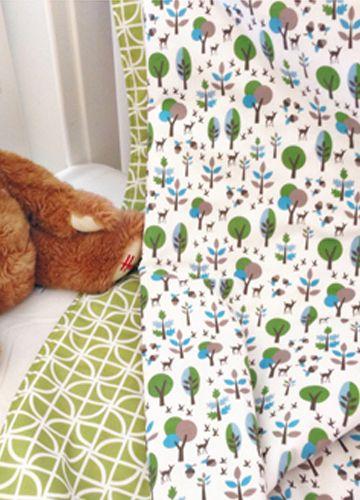 Organic Cot Quilt Woodland Deer #beanandme #organic #nursery #nurserydecor #cotquilt #cotblanket #playmat #picnicrug #nurseryideas