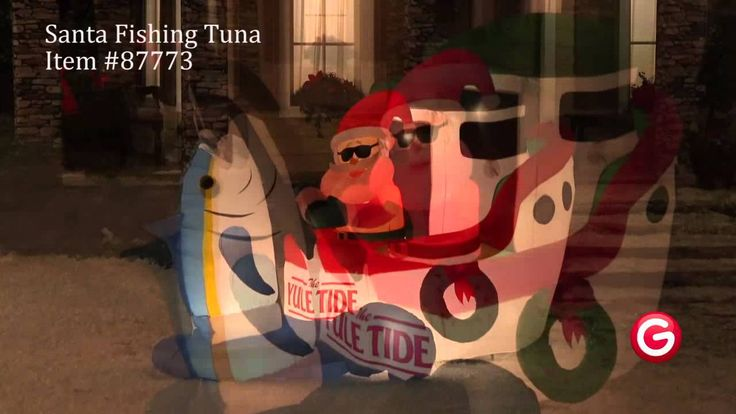 Gemmy animated airblown inflatable  santa