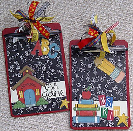 Altered Clipboards - for teachers - Scrapjazz.com