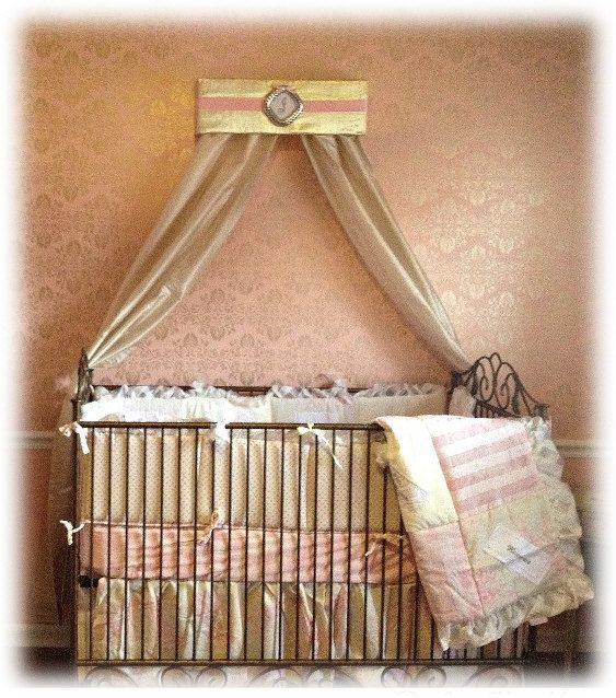 1000 images about baby on pinterest girls bed canopies for Nursery crown canopy