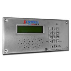 Vandal resistant door station IP intercom for luxury homes.