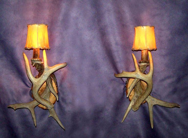 White Antler Wall Lights : 1000+ ideas about Deer Antler Lamps on Pinterest Antler Lamp, Antlers and Antler Chandelier