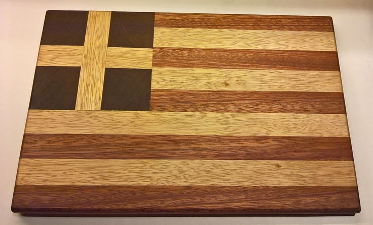 Handmade Greek Flag Cutting Board